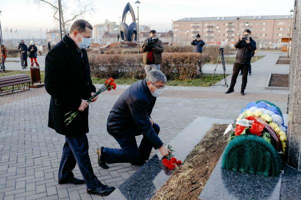 В Улан-Удэ после реконструкции вчера открыли сквер у Чёрного тюльпана