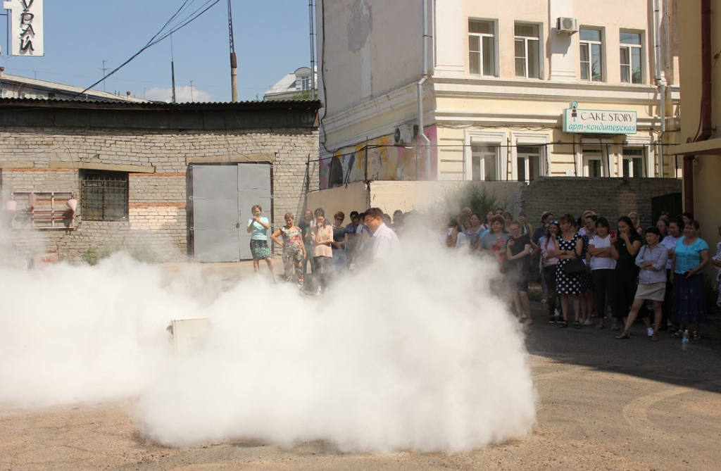 В Улан-Удэ «горел» Главпочтамт