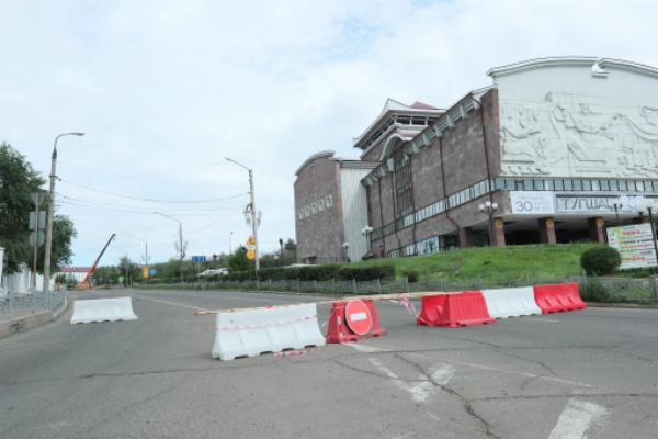В Улан-Удэ на закрытой улице Куйбышева идёт ремонт