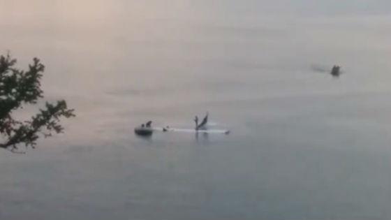 Пилота упавшего вБайкал частного самолета оштрафовали на9,5 тыс. руб.