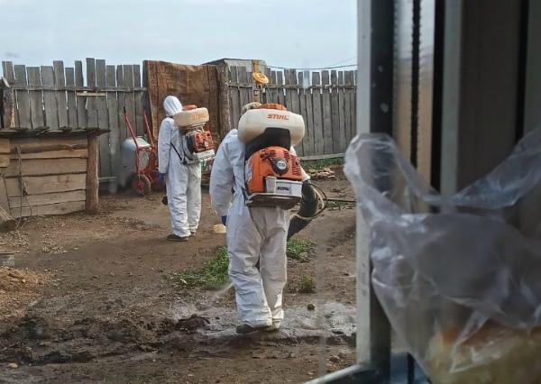 В Эрхирике в Бурятии проводят дезинфекцию