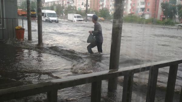 «Улан-Венеция»: Ливень в Улан-Удэ вновь привёл к проблемам