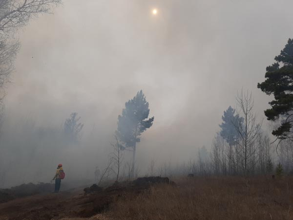 Лесные пожары накрыли дымом Читу