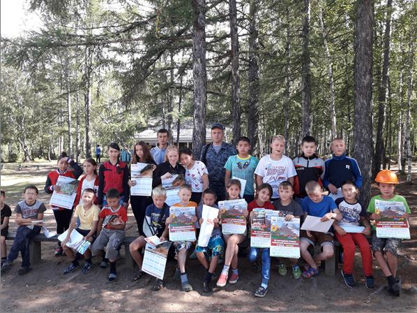 В Бурятии детей учили тушить лесные пожары