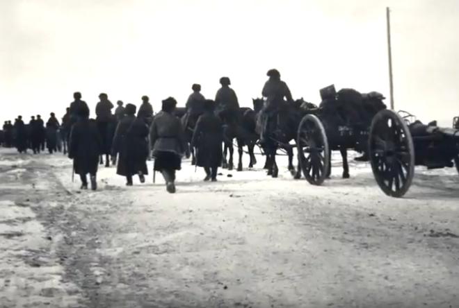 На Байкале реконструируют переход солдат Русской императорской армии