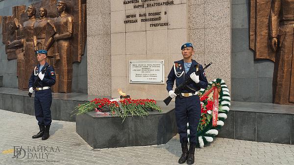 В Улан-Удэ развернут полотно 75-летия Победы
