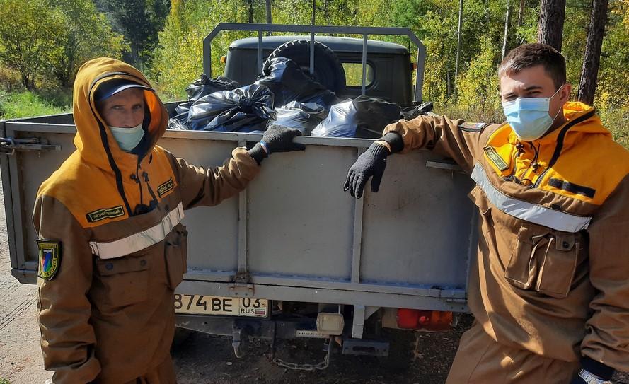 С Верхней Берёзовки в Улан-Удэ вывезли грузовик мусора