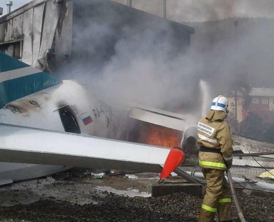 В Бурятии локализовали пожар на самолёте Ан-24