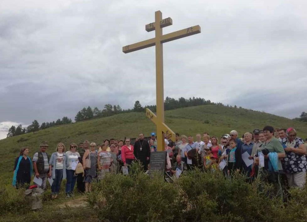 В Бурятии установили крест в честь основателей Бичуры