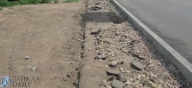 В Улан-Удэ подрядчик затянул с ремонтом тротуара