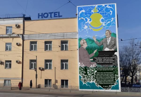 Художник предлагает необычно расписать стену в центре Улан-Удэ