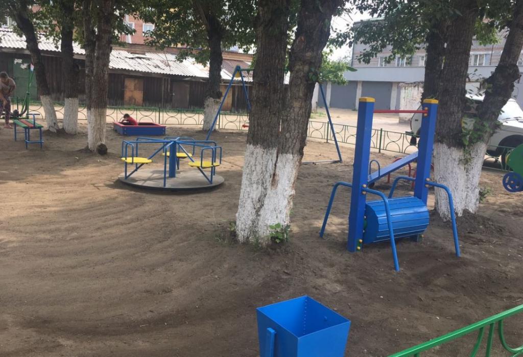 Новые детские площадки открылись в Улан-Удэ