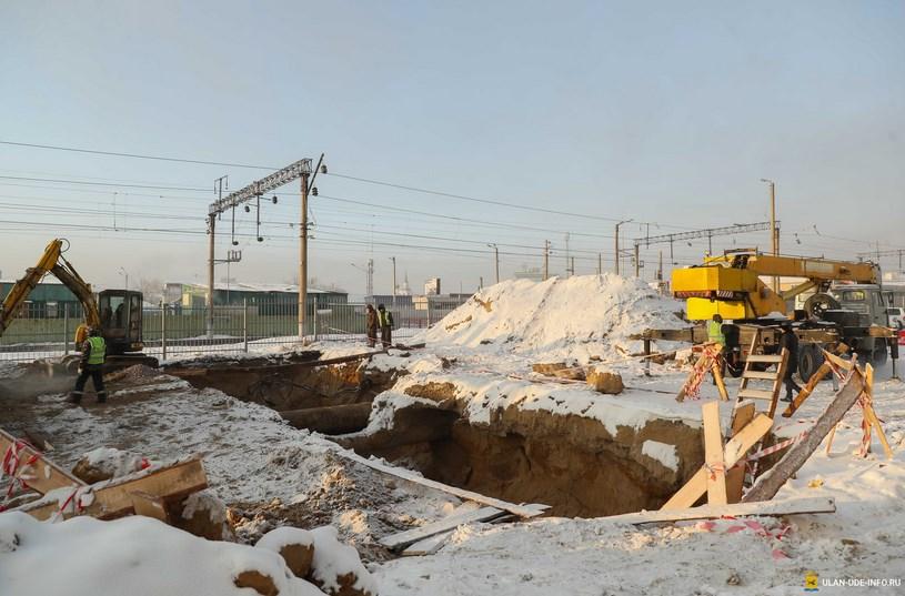 В Улан-Удэ реконструируют тепломагистраль и строят водовод