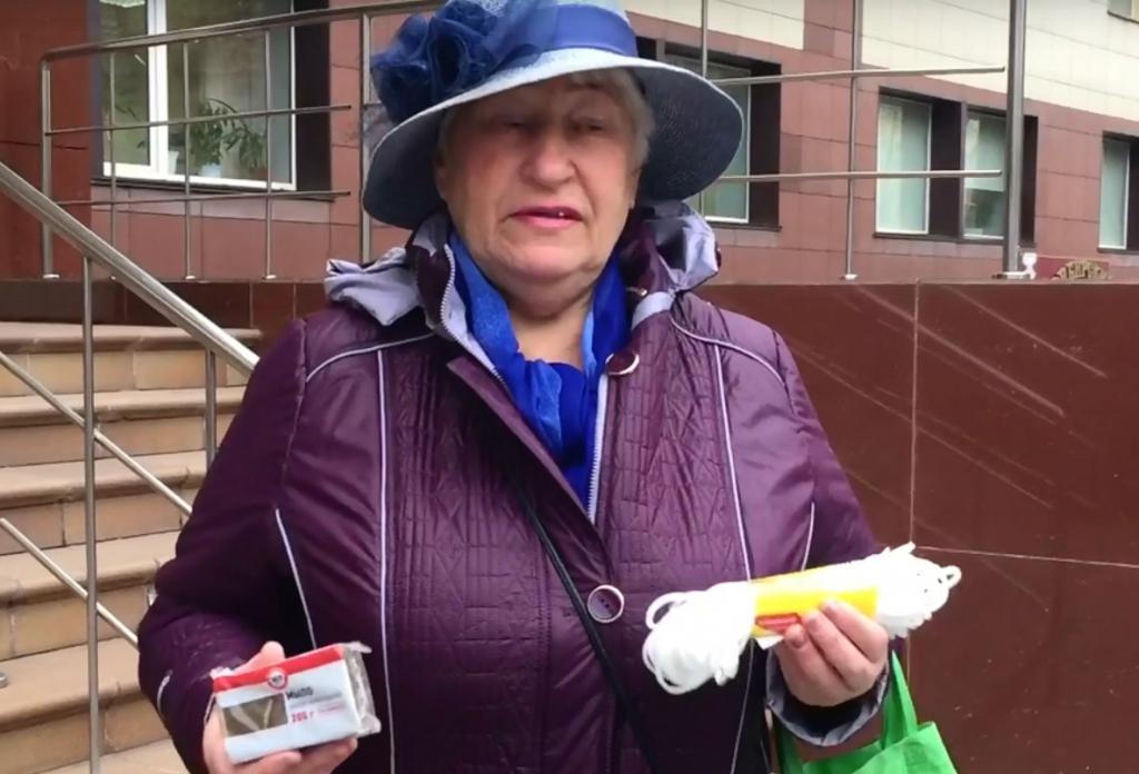 В Сибири пенсионерка подарила министру мыло и верёвку