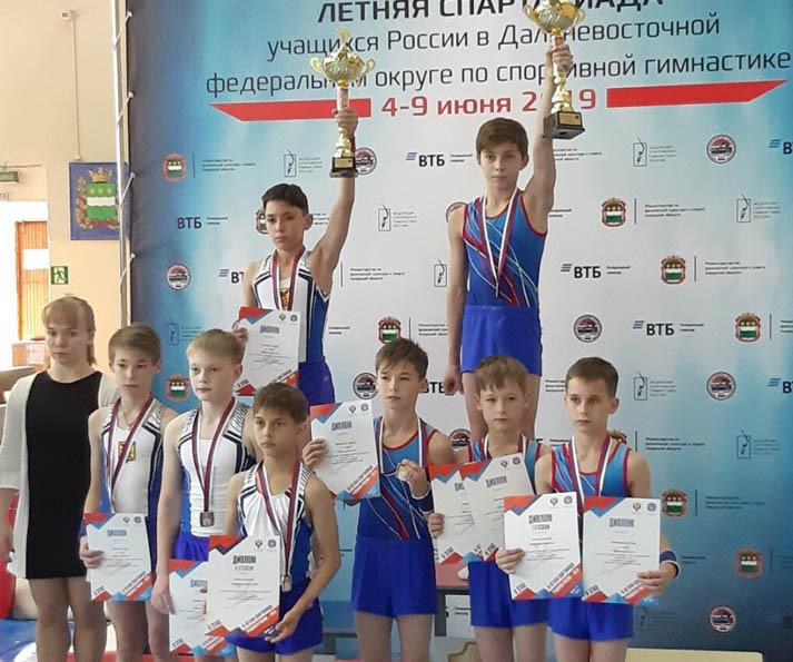 Забайкальские гимнасты завоевали 7 медалей на Спартакиаде ДФО