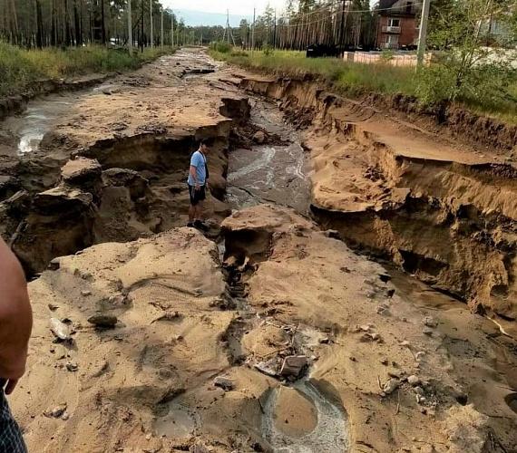 В Улан-Удэ восстанавливают «уплывшие» дороги
