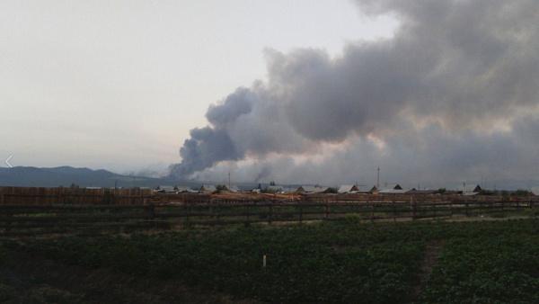 Лесной пожар вБурятии тушили спомощью самолета и 2-х вертолетов