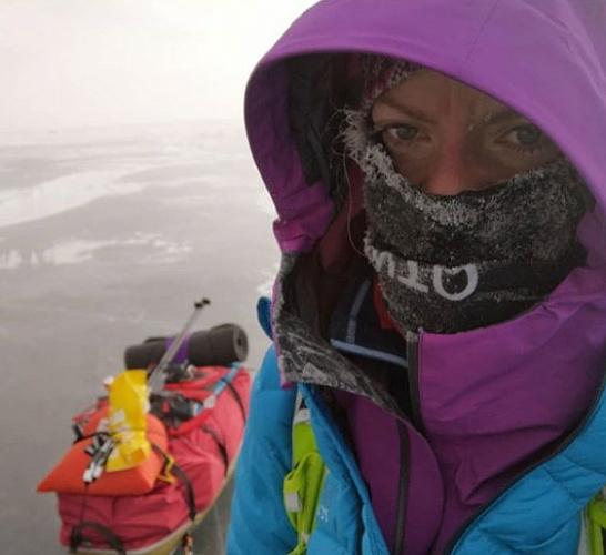 Жительница Норвегии прошла 700 километров по льду Байкала