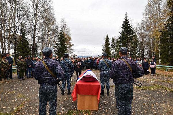 В Бурятии захоронили бойца, павшего в боях на Украине