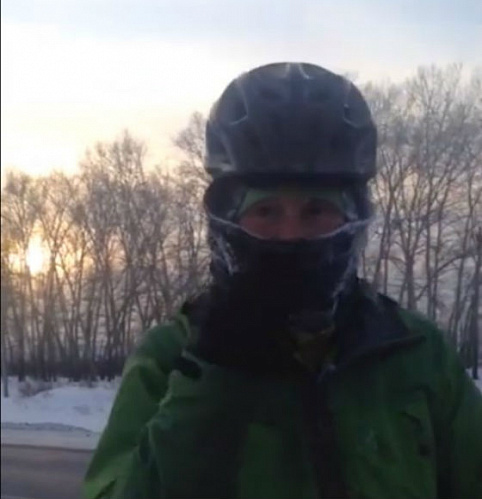 Швейцарец едет через всю Россию на велосипеде к Байкалу